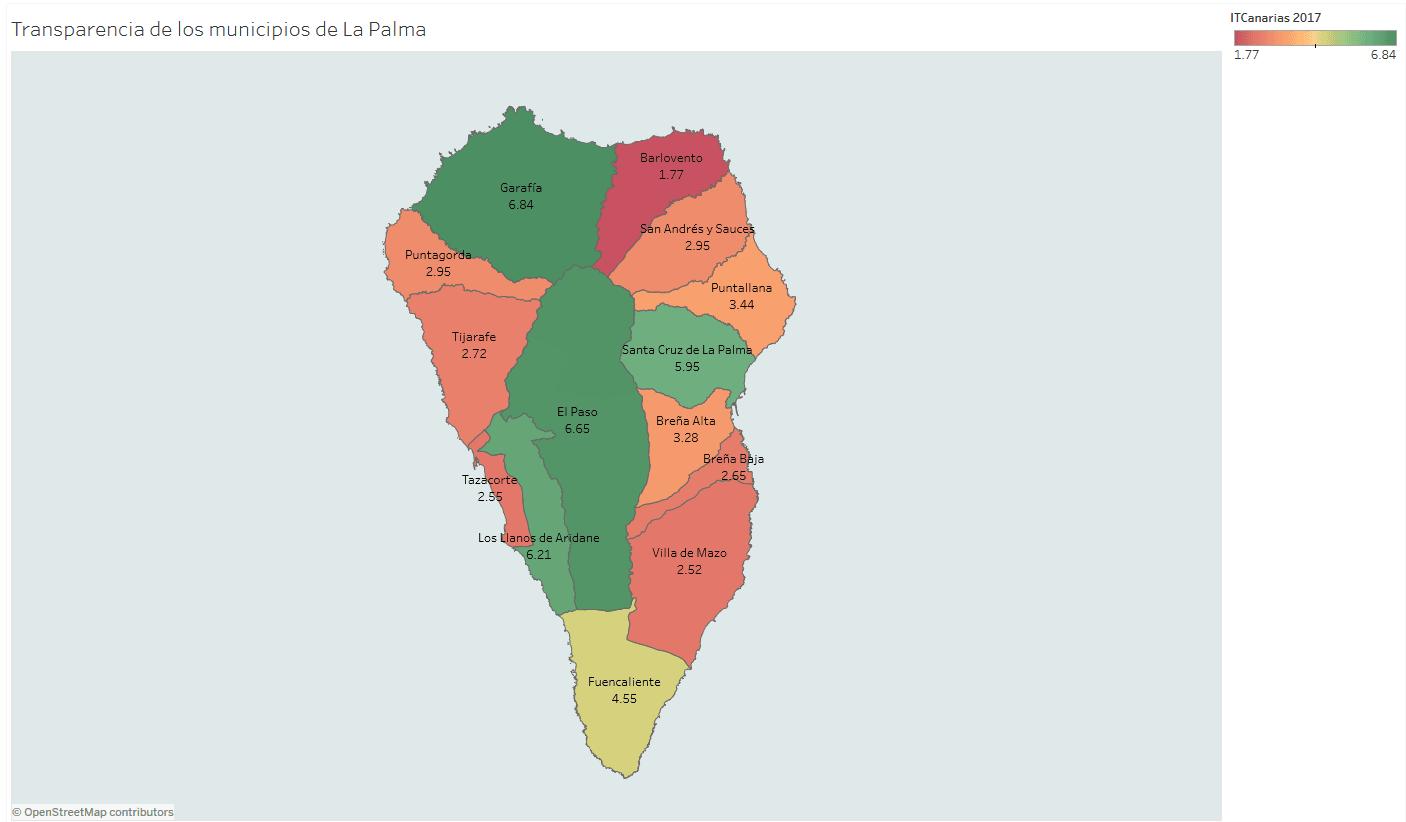 Mapa Municipios La Palma.Los Portales De Transparencia Municipal De La Palma Y